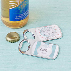 Personalized Silver Bottle Opener - Beach Tides