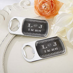 Personalized Silver Bottle Opener - Chalk