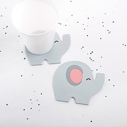 Elephant Coaster - Little Peanut (Pink)