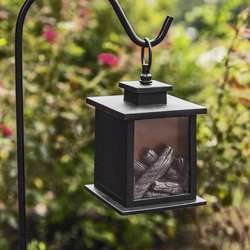 LED Vintage Decorative Black Lantern - Tokyo (Set of 2)