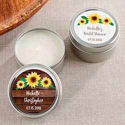 Personalized Travel Candle - Sunflower