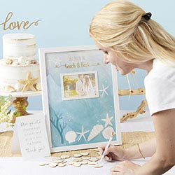 Guest Book Alternative - Beach Party with 75 Wooden Heart