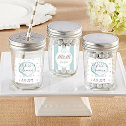Personalized 8 oz. Glass Mason Jar - Beach Tides (Set of 12)