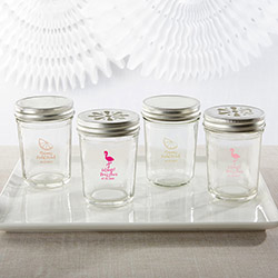 Personalized Printed 8 oz. Glass Mason Jar - Cheery & Chic (Set of 12)
