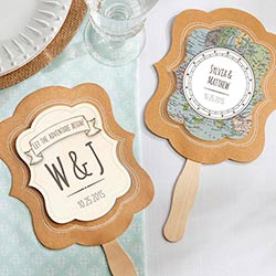 Personalized Kraft Fan - Travel & Adventure (Set of 12)