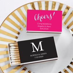 Personalized White Matchboxes - Wedding (Set of 50)