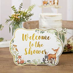 Woodland Baby Décor Sign Kit with Built in Kick Stands (Set of 8)