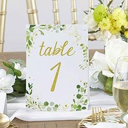 Botanical Garden Double Sided Wedding Table Numbers (1-25)