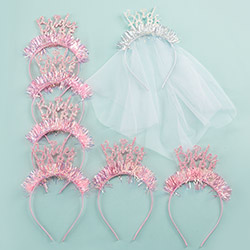 Bridal Party Bachelorette Headband (Set of 7)