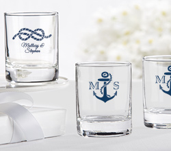 Personalized 2 oz. Shot Glass/Votive Holder - Nautical Wedding