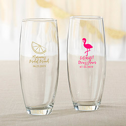 Personalized 9 oz. Stemless Champagne Glass - Cheery & Chic