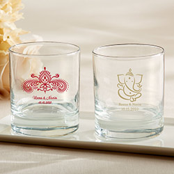 Personalized 9 oz. Rocks Glass - Indian Jewel