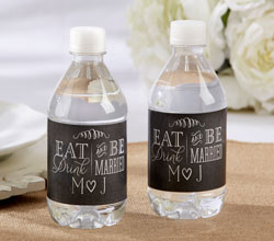 Personalized Water Bottle Labels - Eat, Drink & Be Married