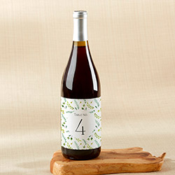 Botanical Garden Wine Label Table Numbers (1-20)