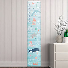 Personalized Under The Sea Growth Chart